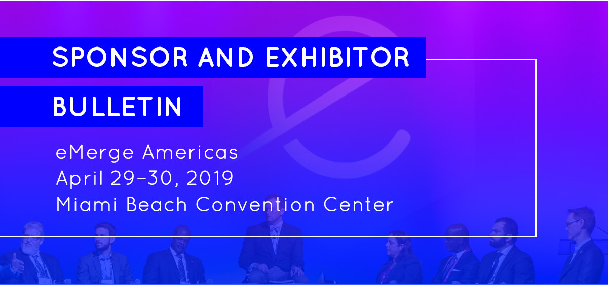 Sponsor and exhibitor bulletin
