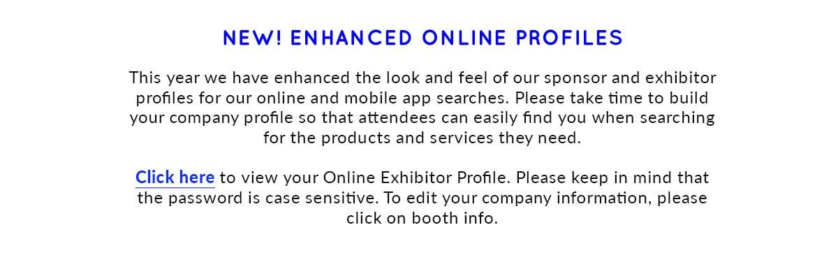 New enhanced online profiles
